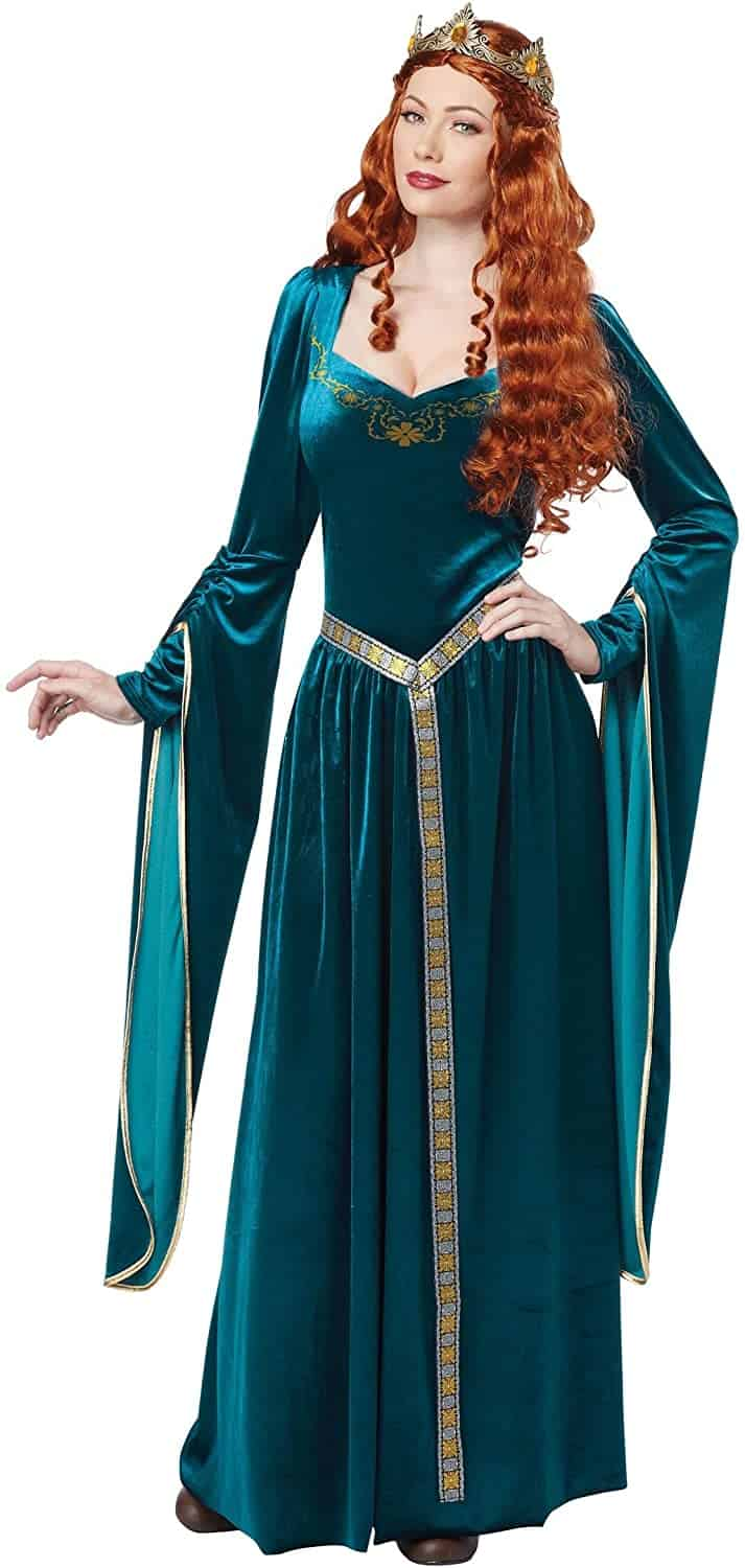 Lady Guinevere Teal Dress