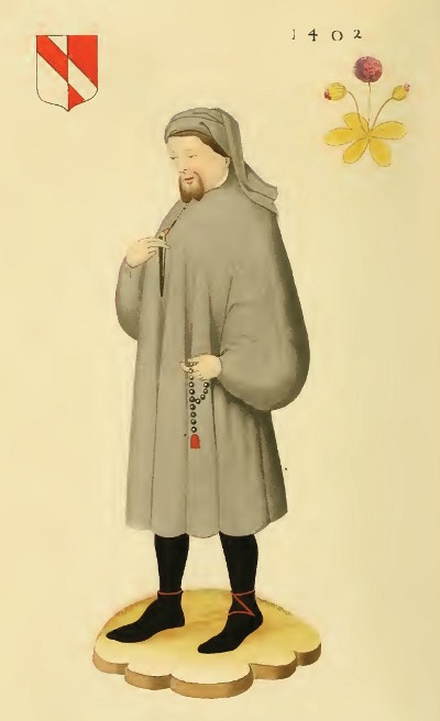 Portrait of Chaucer (16th century), f.1 - BL Add MS 5141