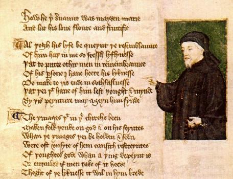Portrait of Chaucer from Hoccleve's De Regimine Principis